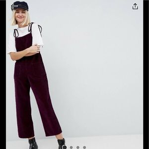 Burgundy jumpsuit ASOS